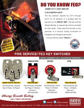 FEO-ADS-001R - FEO Fire Srv KeySw, Adams Sq